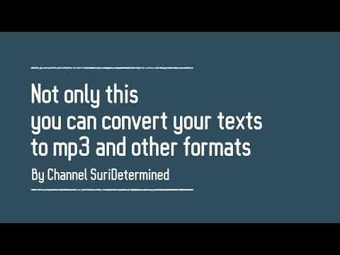 convert text to audio or mp3 - easy to use software