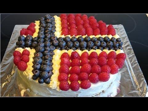 How To Make A Norwegian Flag Cake Hvordan 229 Lage Norske