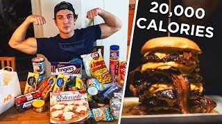 20,000 CALORIE CHALLENGE AT 18 YEARS OLD! (24h)