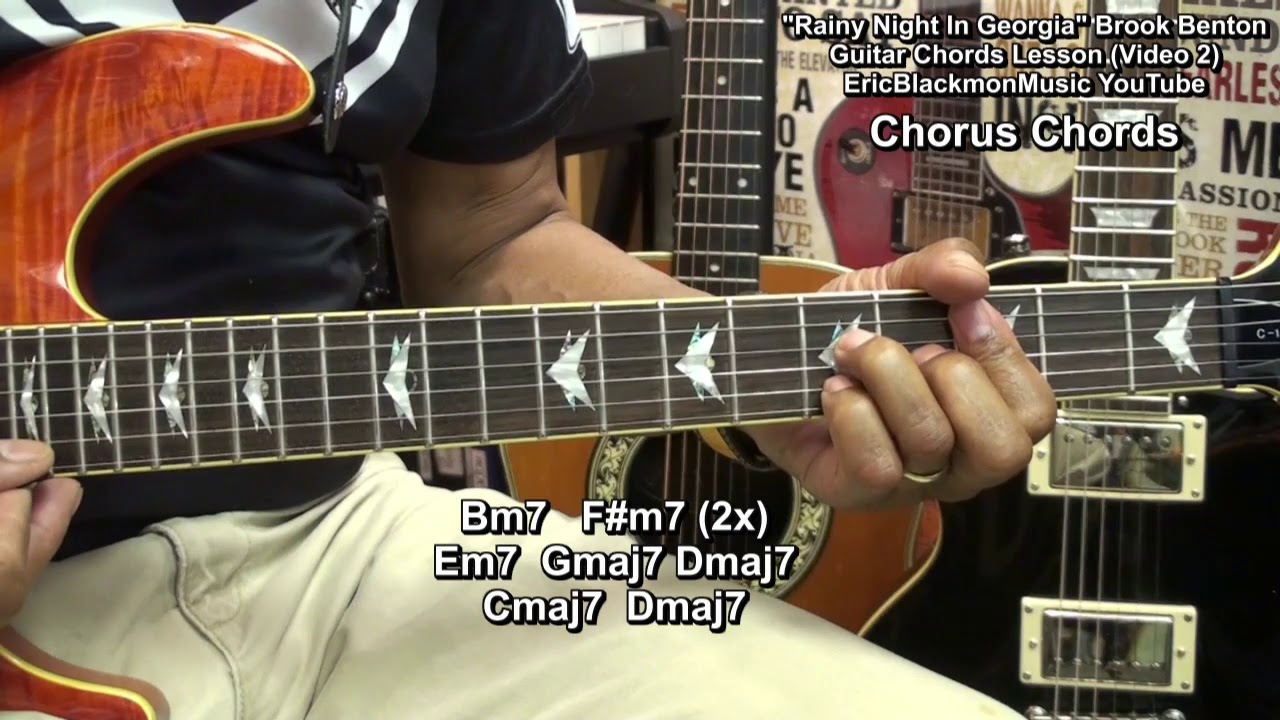 How To Play Rainy Night In Georgia Brook Benton On Guitar Chords