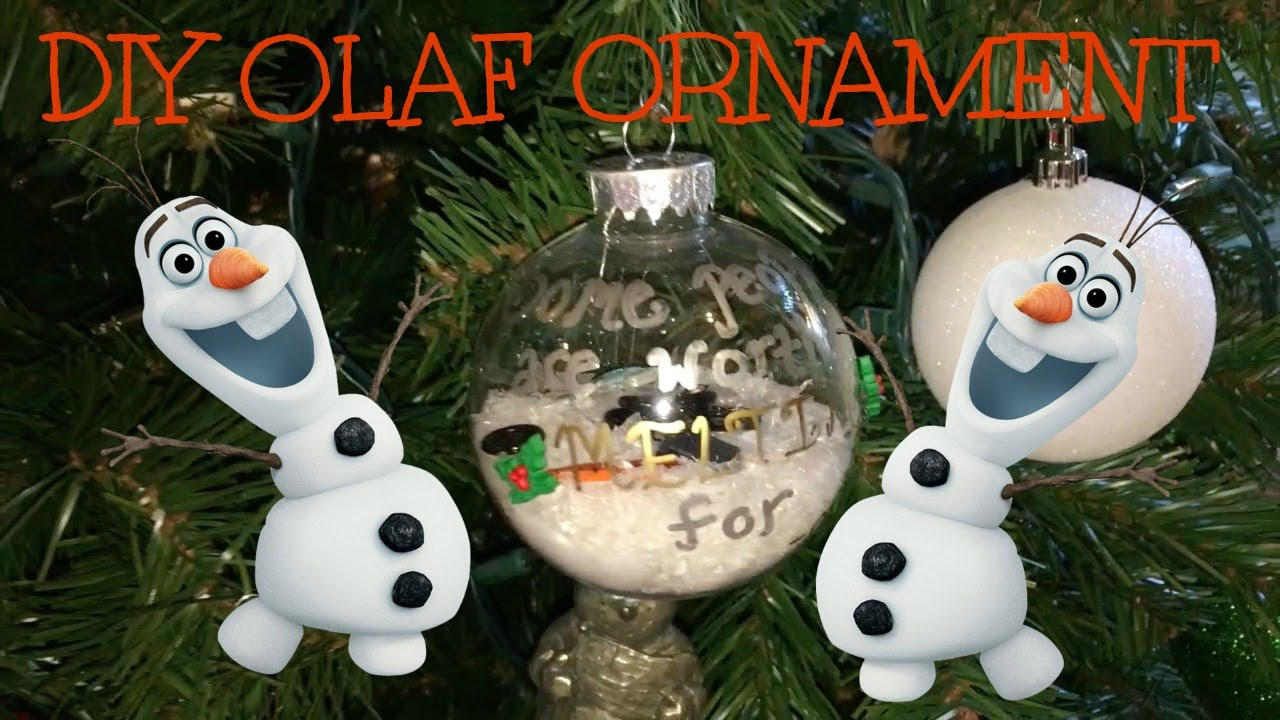 DIY Olaf Ornament ~ Countdown to Christmas - YouTube