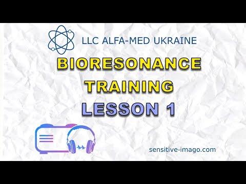 Sensitiv Imago bioresonance diagnostics biofeedback machine. Training lesson 1
