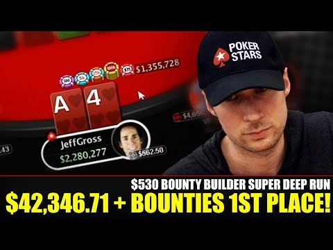 SUPER DEEP RUN in $530 Bounty Builder w/ $42,346.71 + bounties to 1st PLACE!