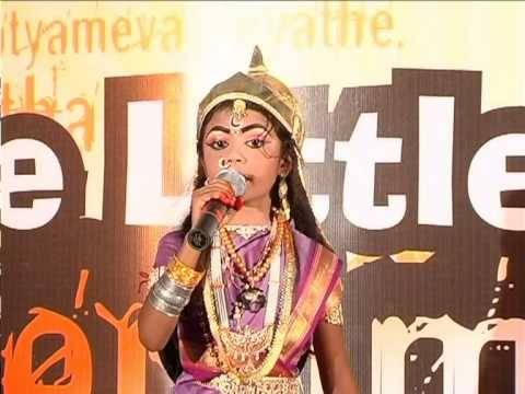 gvk one kid perfoms as rani lakshmi bai youtube