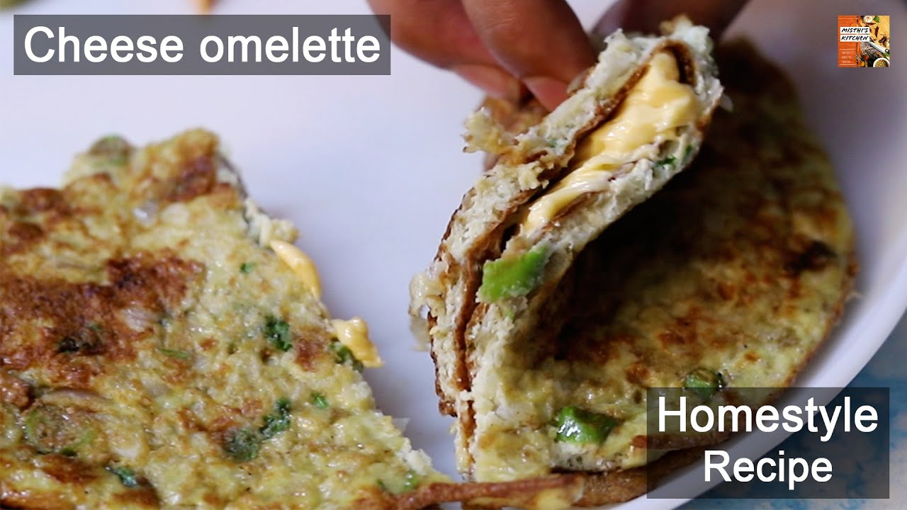 Double Cheese Omelette   Cheesy Yummy Omelette   Homestyle Recipe   Misthi's Kitchen