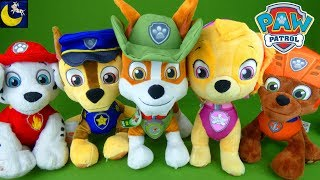 Paw Patrol Toys Deluxe Lights and Sounds Chase Talking Tracker Skye Plush Zuma Marshall Rubble Toys