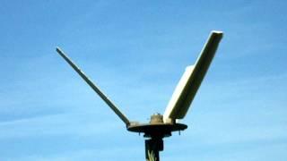 Experimental V rotor vertical axis wind turbine