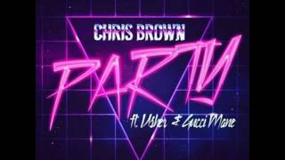 Chris Brown - Party feat. Usher & Gucci Mane - (Lyrics) 2017 Video