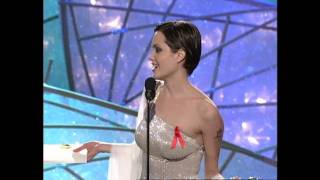 Angelina Jolie Wins Best Supporting Actress Mini-Series or TV Movie - Golden Globes 1998