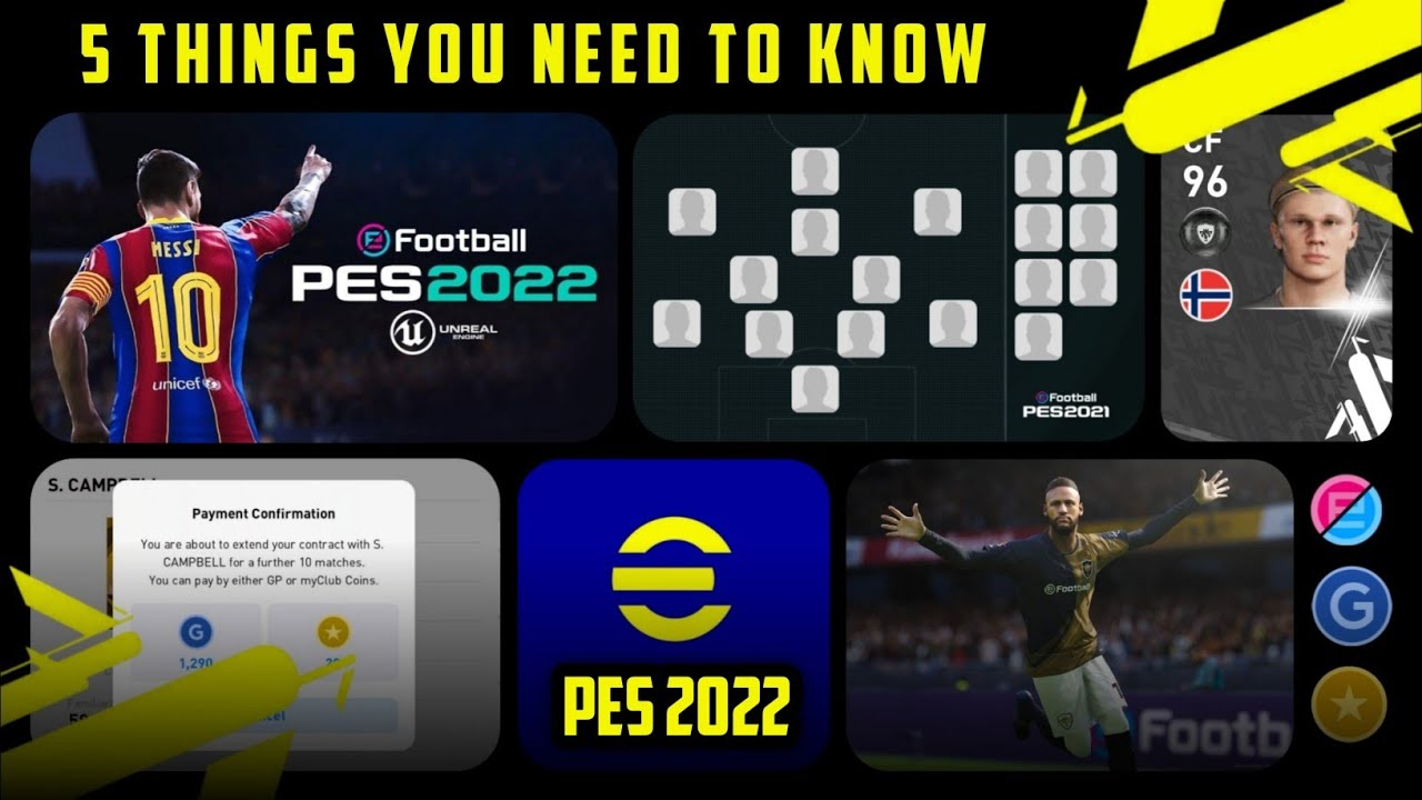 5 Important Things You Need To Know Before Pes 2022 (eFootball)