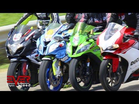 GSXR 1000 Vs S1000RR Vs ZX10R Vs Panigale 1299 Vs GSXR 600 Vs ZX6R Vs FZ1000 Vs S1000R | Drag Races