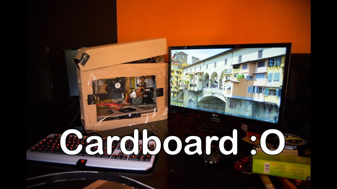 The Cardboard pc case Version 2 - YouTube
