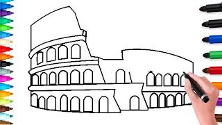 Watch How To Draw The Colosseum Lessons And Draw By Yourself