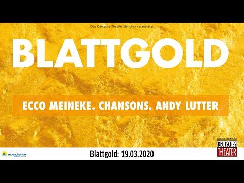 Blattgold mit Ecco Meineke und Andy Lutter am 19.3. im