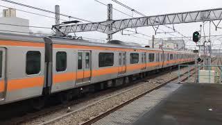 中央線快速電車 阿佐ヶ谷高速通過