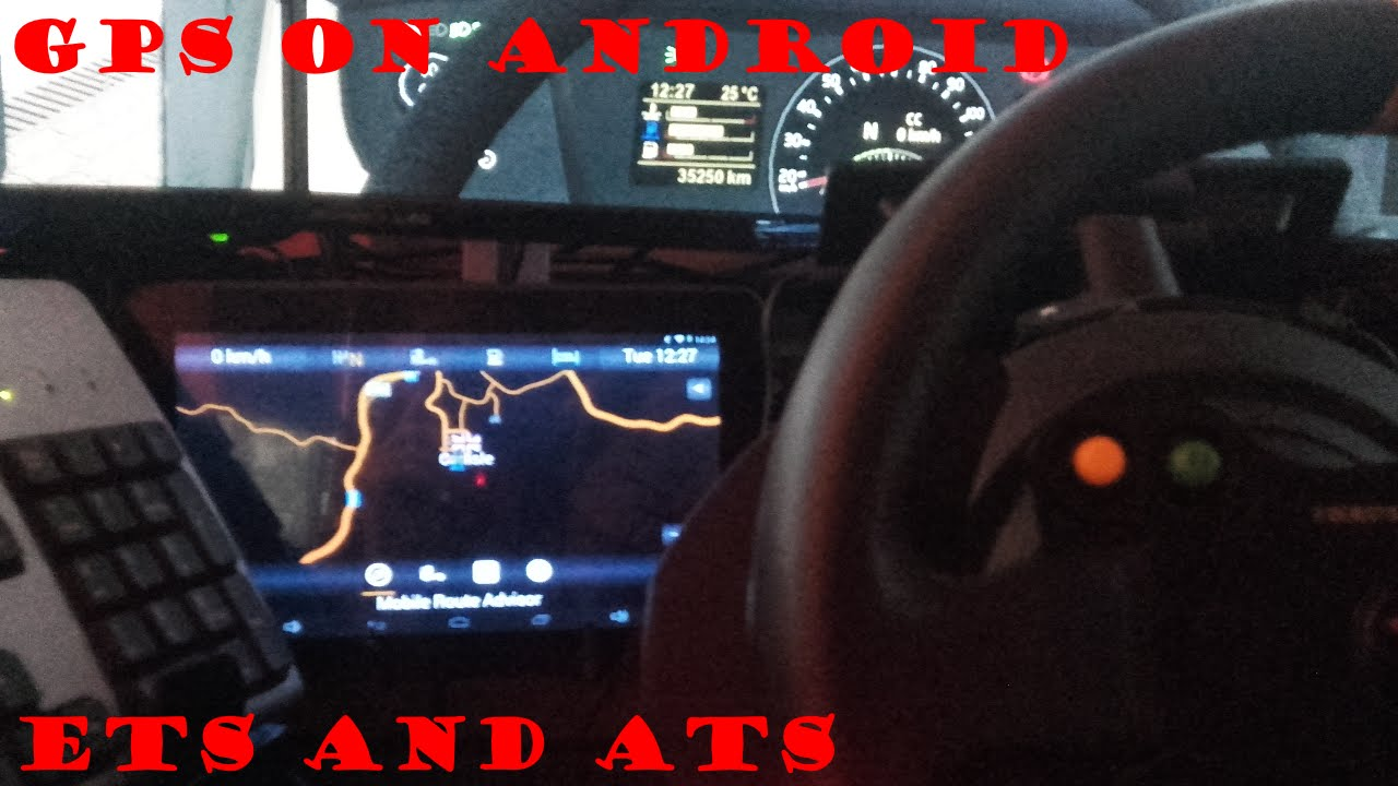 GPS MAP on ANDROID - Euro & American Truck Simulator