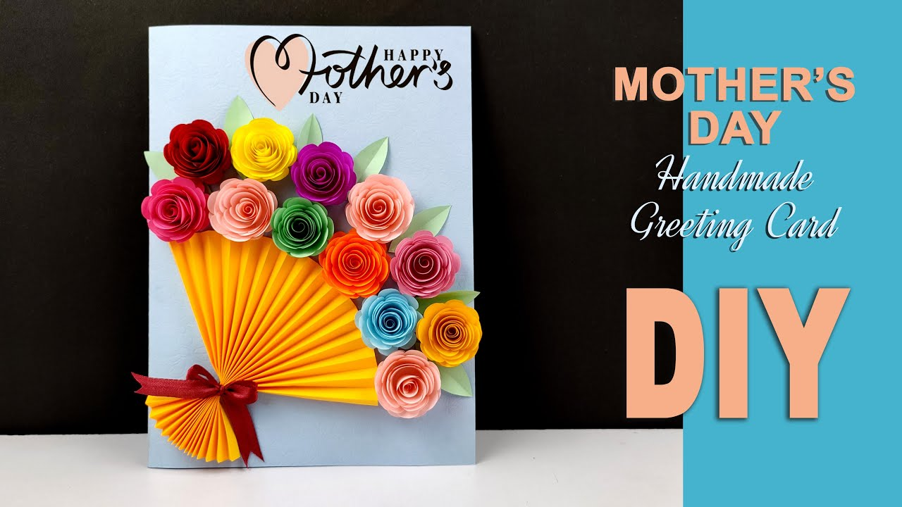 Diy Mother S Day Card Mother S Day Card Making Ideas Handmade Card For Mom Birthda In 2021 Diy Birthday Cards For Mom Birthday Card Craft Creative Birthday Cards