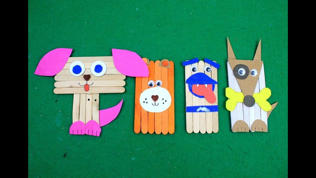 5 Easy Popsicle Stick Crafts Simple Cute Puppies Or Dogs Toys