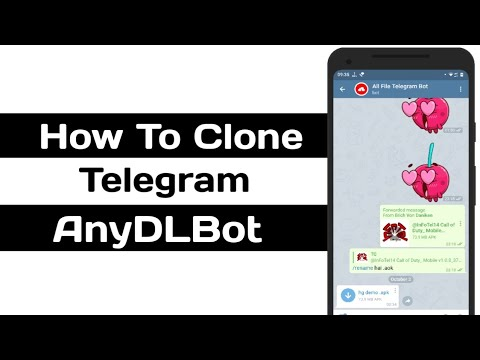How To Clone Telegram  AnyDLBot | InFoTel