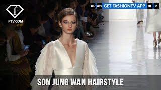 New York Fashion Week Spring/Summer 2018 - Son Jung Wan Hairstyle | FashionTV