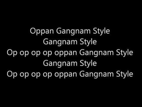 Oppan Gangnam Style Lyrics