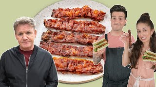 we tested gordon ramsay's viral vegan bacon  is it worth it?