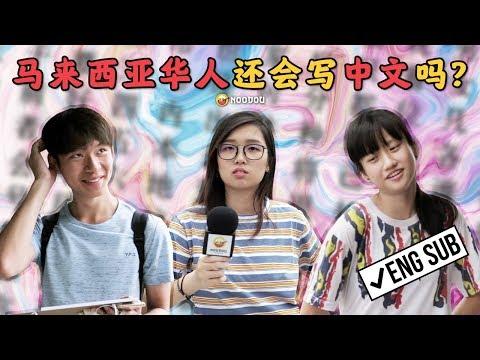 马来西亚华人还会写中文吗? Can Chinese Write Chinese?