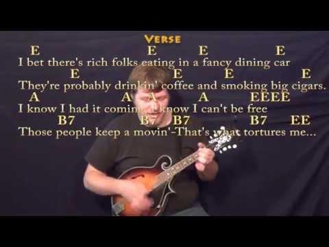 Folsom Prison Blues (Johnny Cash) Mandolin Cover Lesson with Chords/Lyrics