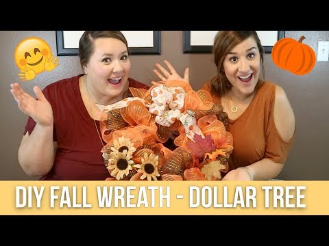DIY - Fall Wreath - Dollar Tree