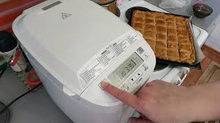 Месим тесто в хлебопечки  Philips. Рецепт, результат на выходе.