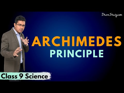 Archimedes Principle - Pressure and Thrust from Gravitation(Chapter 9):CBSE Class 9 Science(Physics)