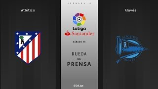 Rueda de prensa Atlético vs Alavés
