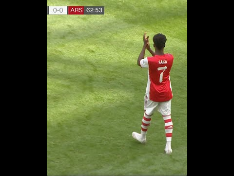 Bukaya Saka's INCREDIBLE reaction at Tottenham Hotspur Stadium 🤝🤍