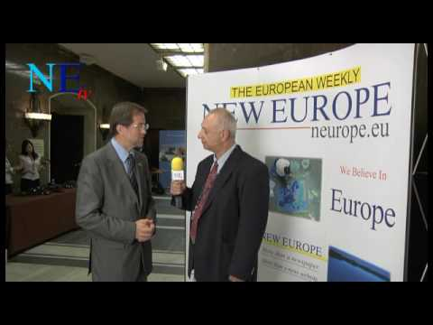 Former PM of Slovenia Alojs Peterle interview for New Europe TV at the Warsaw Congress