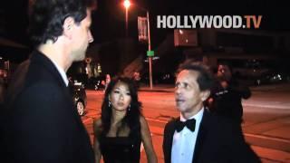 Brad Pitt, Angelina Jolie, Salma Hayek, Brian Grazer at Craig's Oscar dinner party
