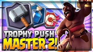 TROPHY PUSH w/ BEST 2.9 HOG CYCLE DECK!! No Legendary Cards! Master 2 League - Clash Royale