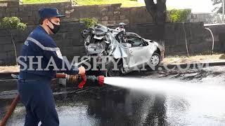 Խոշոր ավտովթար Երևանում. Իսակովի պողոտայում՝բախվել են MAN բեռնատարն ու Toyota-ն