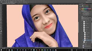 Tutorial Karikatur Photoshop Smudge Painting Speed Art | Kangdesign.id