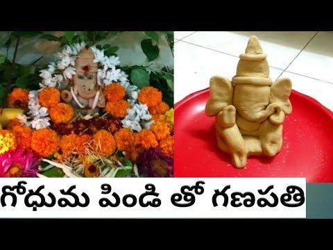 Making of Easy Lord Ganesha Idol with Wheat Flour || Make  Eco Friendly Ganesh Idol at your home