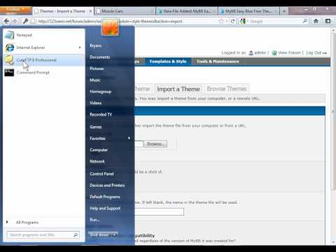 How to install a new theme or skin on MyBB