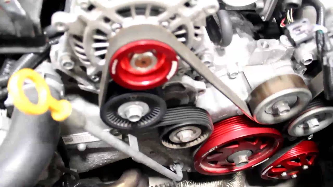 How To Install Perrin Performance Water Pump And Alternator Pully BRZ FRS  GT86