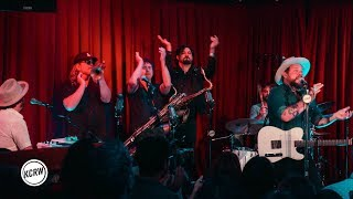 """Nathaniel Rateliff and the Night Sweats performing """"A Little Honey"""" live on KCRW"""