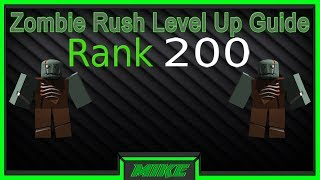 Roblox Zombie Rush How To Level Up Faster Guide! How To Level Up Quicker In Zombie Rush Roblox!