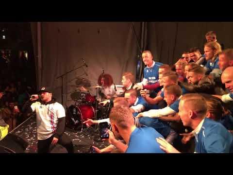 Emmsjé Gauti performs Reykjavik with Iceland national team