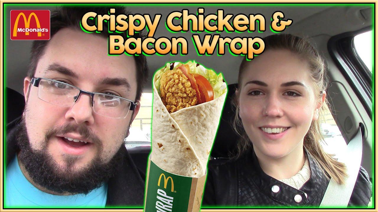 Mcdonald S Crispy Chicken Bacon Wrap Review Youtube