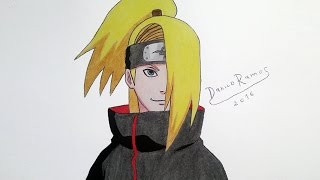 How to draw Deidara | speed drawing