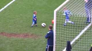 Josh Turnbull shoots on goal - sweetest goals from the chelsea player kids