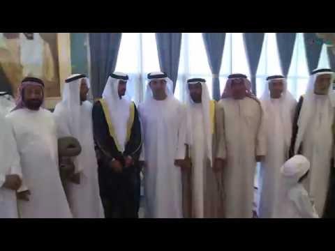هزاع بن زايد يحضر حفل زفاف مبارك القمزي