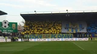 SFC Opava - FC Baník Ostrava atmosféra po gólu na 1:0