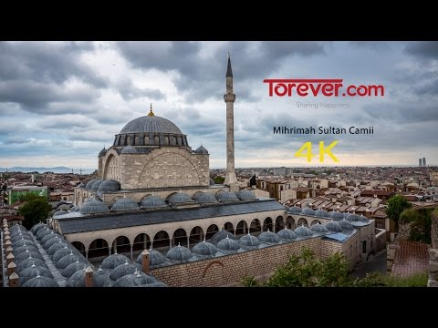 Mihrimah sultan mosque - timelapse in 4K